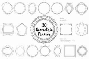 Print on Demand: Geometric Frames Clip Art Graphic Illustrations By AmitDebnath