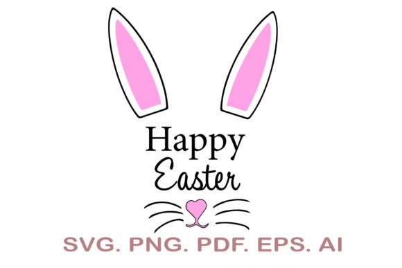 Happy Easter Rabbit SVG Graphic Crafts By NarCreativeDesign