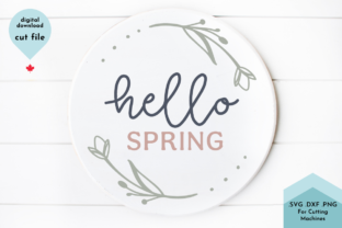 Print on Demand: Hello Spring Round SVG Graphic Crafts By Lettershapes