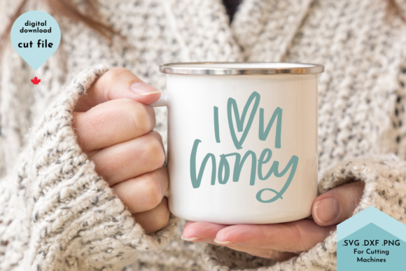 Print on Demand: I Love You Honey Hand Lettered Valentine Graphic Crafts By Lettershapes