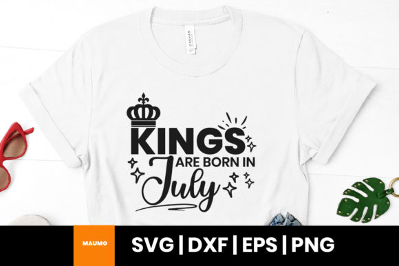 Print on Demand: Kings Are Born in July Birthday Quote Graphic Print Templates By Maumo Designs