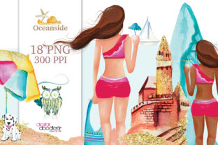 Print on Demand: Oceanside Watercolor Graphics Graphic Illustrations By Digital Doodlers