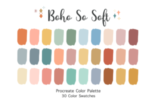 Procreate Color Palette - Boho so Soft Graphic Add-ons By SoftPastel