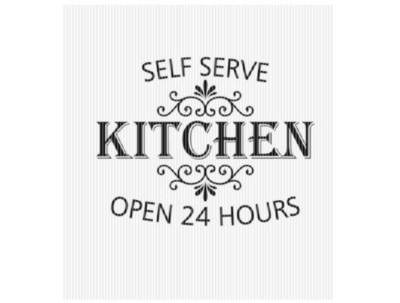 Print on Demand: Self Serve Kitchen Farmhouse Sign Graphic Crafts By SVGPlaceDesign