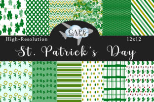 Print on Demand: St. Patrick's Day Digital Papers Graphic Patterns By CapeAirForce