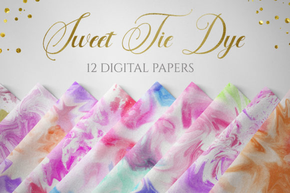 Sweet Tie Dye Digital Papers Graphic Backgrounds By PinkPearly