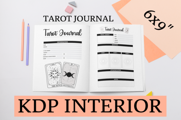 Print on Demand: Tarot Journal | KDP Interior Graphic KDP Interiors By KDP Mastermind