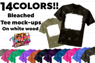 14 Bleached T-shirt Tee Mockups Graphic Product Mockups By tiffanator606