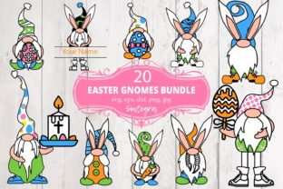 Print on Demand: 20 Easter Gnome Bundle SVG Graphic Crafts By Sintegra