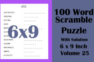 6x9 Inch 100 Word Scramble Puzzle Vol 25 Graphic KDP Interiors By Seven Elephant