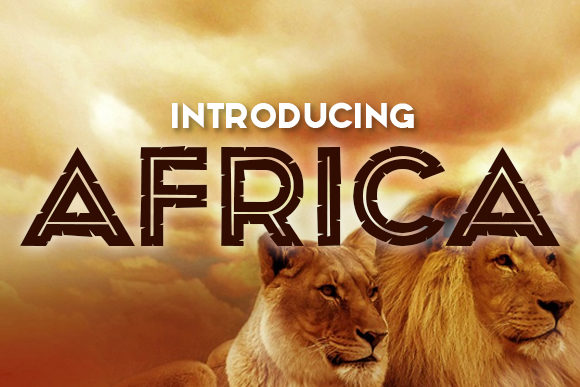 Print on Demand: Africa Display Font By vladimirnikolic