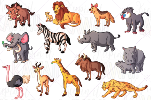 Print on Demand: African Animals Clip Art Graphic Illustrations By Keepinitkawaiidesign