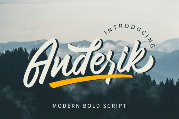 Print on Demand: Anderik Script & Handwritten Font By GFRcreative