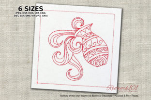 Aquarius Star Sign Bluework Zentangle Embroidery Design By Redwork101