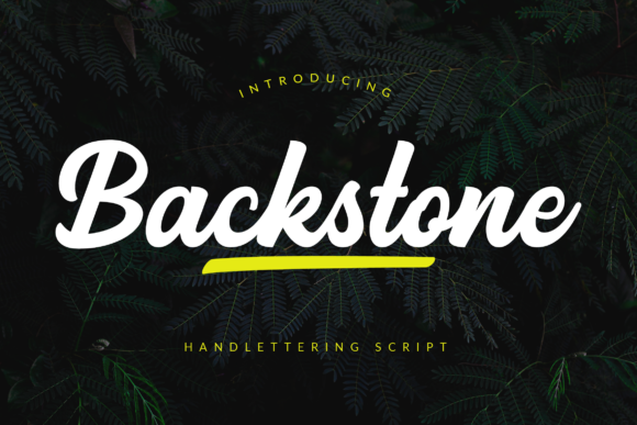 Print on Demand: Backstone Script & Handwritten Font By ahweproject