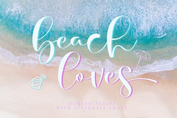 Print on Demand: Beach Loves Script & Handwritten Font By Septa Script