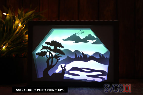Beautiful Deer Shadow Box Light Box SVG Graphic 3D Shadow Box By svgs101