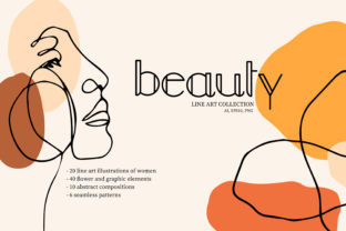 Print on Demand: Beauty. Line Art Collection Graphic Illustrations By Alisha Gronska
