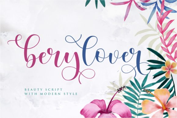 Print on Demand: Berylover Script & Handwritten Font By Septa Script