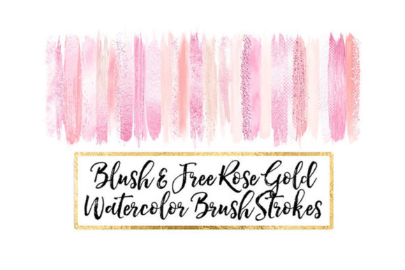 Blush Watercolor Brush Strokes Clipart Graphic Objects By ItGirlDigital