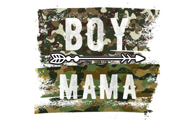 Boy Mama Sublimation Camouflage Graphic Print Templates By DenizDesign
