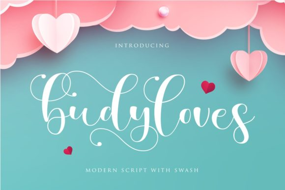 Print on Demand: Budyloves Script & Handwritten Font By Septa Script