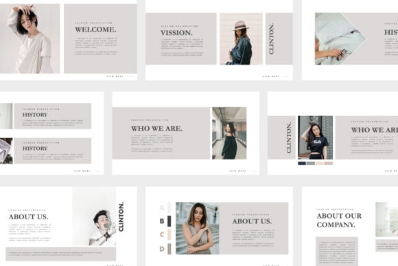 Print on Demand: Clinton Powerpoint Template Graphic Presentation Templates By barland