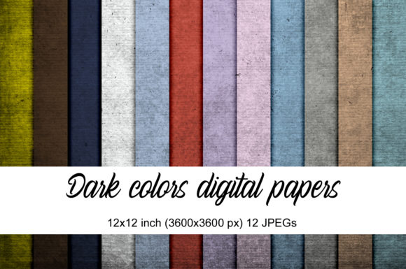 Print on Demand: Dark Colors Digital Papers Graphic Textures By Andrea Kostelic