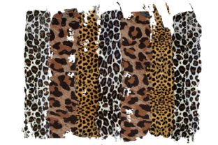 Print on Demand: Distressed Leopard Background Graphic Backgrounds By DenizDesign