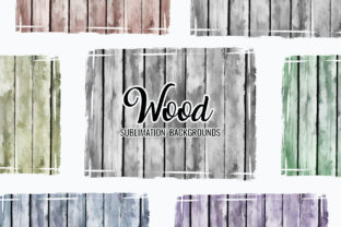 Print on Demand: Distressed Wood Sublimation Backgrounds Graphic Backgrounds By DTCreativeLab