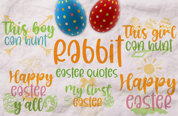 Easter Rabbit Quotes Graphic Crafts By Firefly Designs