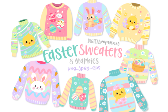 Print on Demand: Easter Sweaters Graphic Illustrations By DigitalPapers