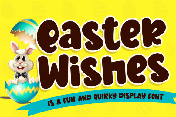 Print on Demand: Easter Wishes Display Font By Stefani Letter
