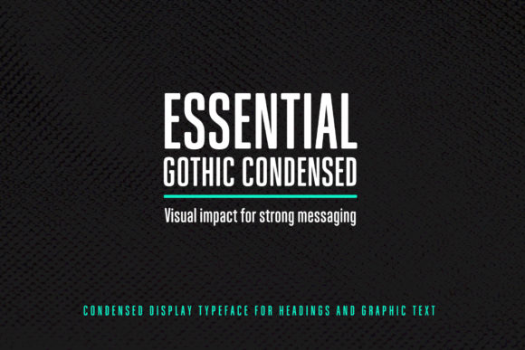 Print on Demand: Essential Gothic Condensed Display Font By janinaa