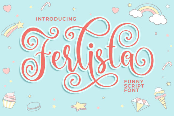 Print on Demand: Ferlista Script & Handwritten Font By Blankids Studio