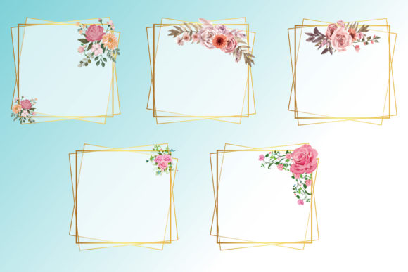 Print on Demand: Flower Frames Graphic Print Templates By uicreativenet