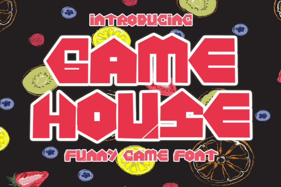 Print on Demand: Game House Display Font By Eddygoodboy