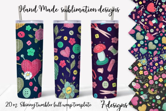 Print on Demand: Hand Made Design. Skinny Tumbler Wrap Graphic Crafts By nicjulia