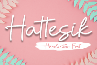 Print on Demand: Hattesik Script & Handwritten Font By Nabila Graphic