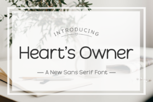 Print on Demand: Heart's Owner Sans Serif Font By Jasm (7NTypes)