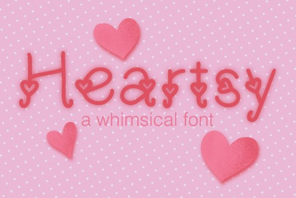 Print on Demand: Heartsy Display Font By SKMDesigns