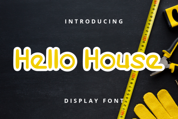 Print on Demand: Hello House Display Font By Planetz studio