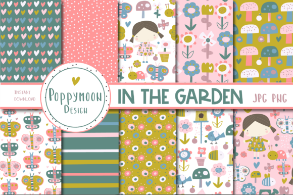 Print on Demand: In the Garden Paper Set Graphic Patterns By poppymoondesign