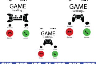 Print on Demand: Incoming Call, Gamer Graphic Illustrations By Sofiamastery