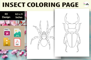 Print on Demand: Insect Coloring Page 3 - KDP Graphic Coloring Pages & Books Kids By Sei Ripan