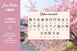 Print on Demand: Japan Icons Dingbats Font By Jane Winter