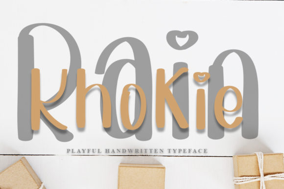 Print on Demand: Khokie Rain Script & Handwritten Font By Inermedia STUDIO