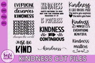 Print on Demand: Kindness Cut Files  - SVG DXF EPS PNG Graphic Crafts By Safi Designs
