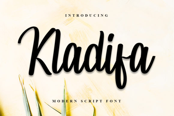 Print on Demand: Kladifa Script & Handwritten Font By Inermedia STUDIO