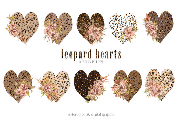 Print on Demand: Leopard Heart Clipart.Black Lives Matter Graphic Illustrations By Tiana Geo
